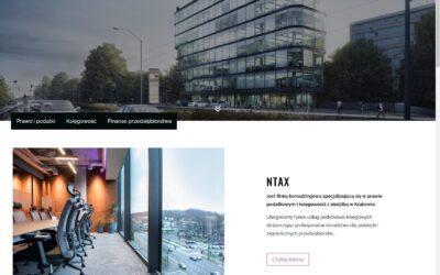 Strona internetowa – Biuro rachunkowe NTAX.